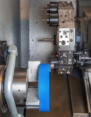 CNC lathe used by HP Manufacturing to machine custom plastic parts & components