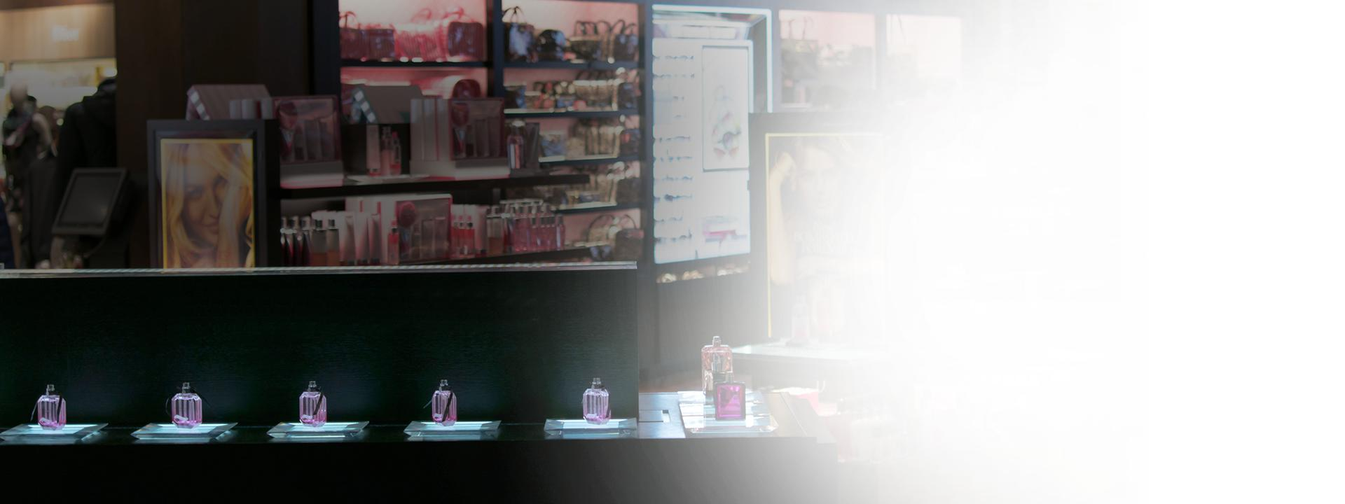 Plastic perfume point-of-purchase in-store display from HP Manufacturing